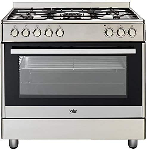 Beko GM 15020 DX Gas Electric Cooker Catalytic B/SIDE PANELS/104 Litre Interior/Stainless Steel/5...