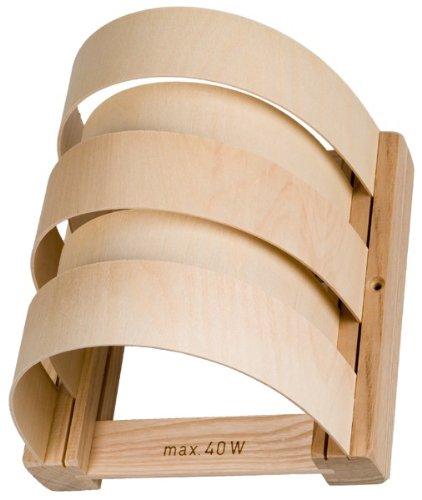 Hofmeister Holzwaren Lampenschirm, 5 Sperrholzleisten, halbrund