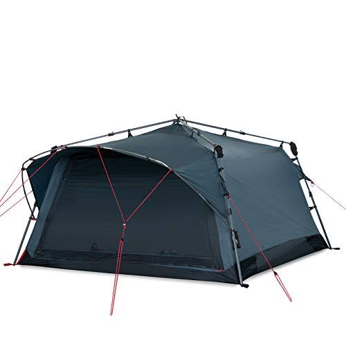 Qeedo Quick Villa 5, Sekundenzelt für 5 Personen, Familien-Zelt mit Stehhöhe - grau