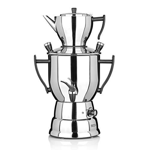 BEEM Samowar 3 Liter | Teekocher elektrisch | Edelstahl | 1.500 W | 3 Liter Wasserbehälter | 1,2 l...