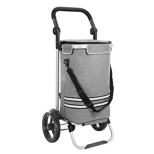 SONGMICS Einkaufstrolley, klappbar, stabiler Einkaufswagen, mit Kühlfach, große Kapazität 35 L,...