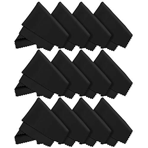 12x LetsSwipeThat Mikrofasertücher - 20x20 cm Mikrofaser Brillenputztuch. Kamera Objektiv...