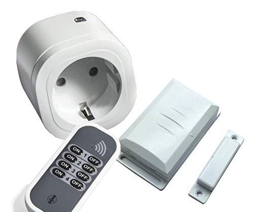 Intertechno Funk Abluftsteuerung 3000W Power Stecker IT-3000, Handsender, Fensterkontakt Schalter...