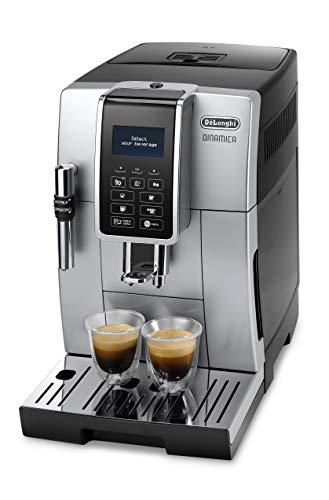 De'Longhi Dinamica ECAM 350.35.SB Kaffeevollautomat mit Profi-Milchaufschäumdüse für Cappuccino,...