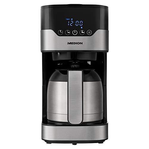 MEDION Kaffeemaschine mit Thermoskanne und Timer (Filtermaschine, 8-10 Tassen, 1,2 Liter, 900 Watt,...