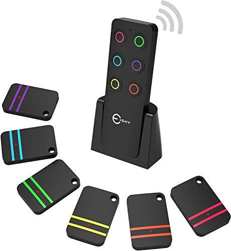 Schlüsselfinder, Esky Wireless Schlüssel Finder mit 6 Empfängern RF Item Locator, Item Tracker...
