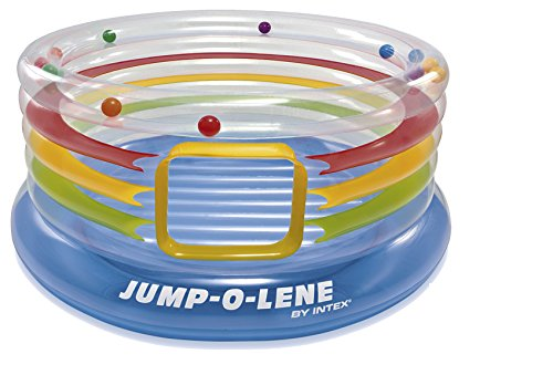 Intex Jump-O-Lene Ring Bouncer - Transparent - Aufblasbare Hüpfburg - Ø 182 x 86 cm
