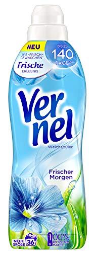 Vernel Frischer Morgen, Weichspüler, 36 (1x36) Waschladungen, für einen langanhaltenden Duft und...