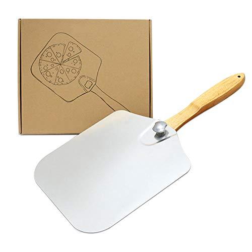 Cozy Vibe Pizzaschaufel mit großer Fläche - 30,5cm x 35,5cm, Pizzaschieber Aluminium, Griff aus...