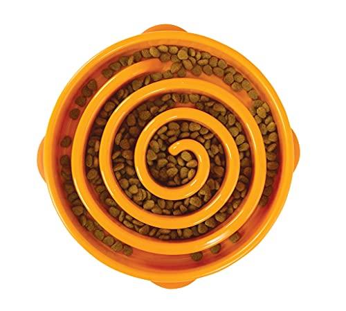 Outward Hound Fun Feeder Slo-Bowl - Anti-Schling-Hundenapf - groß/normal - orange