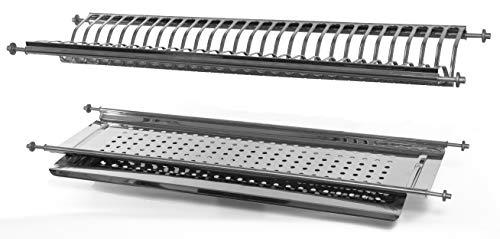 Einbau-Abtropfgestell mit Klemmfeder-Befestigung, für 76ml, Edelstahl, in Italien hergestellt.