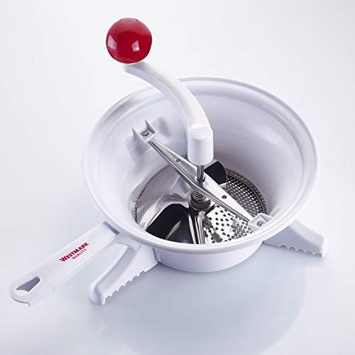 Westmark Passiermaschine, ø 23 cm, hochwertiger Kunststoff/Rostfreier Edelstahl, Weiß/Rot,...