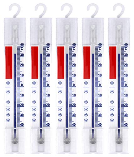 Lantelme 5 Stück Kühlschrank Thermometer Set Deutsche Herstellung analog Gefrierschrank...