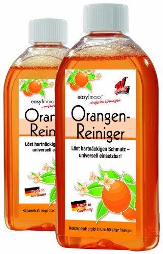 EASYmaxx Orangenreiniger 3tlg. | Löst hartnäckigen Schmutz | Universell einsetzbar auf Holz,...