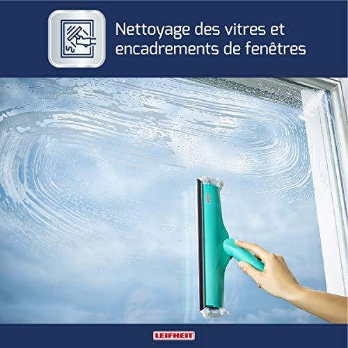 Leifheit Fensterwischer Window und Frame Cleaner L mit Rundum-Bezug, Fensterreiniger mit...