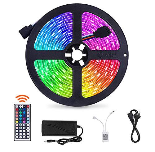 SUNNEST 5m LED-Streifen LED-Lichtleisten Beleuchtung mit 150 LED,Fernbedienung Led stripes Lichtband...
