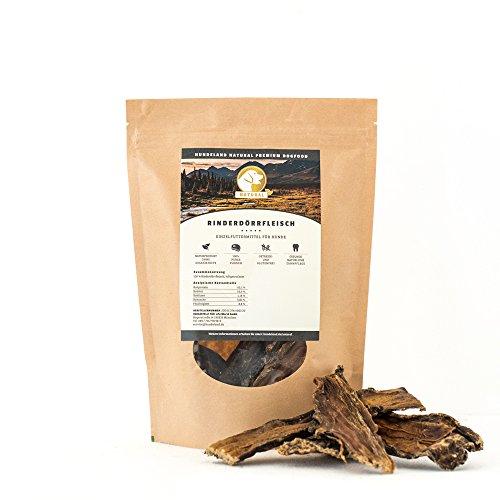 NATURAL Hundeland Rinderdörrfleisch | 3 x 750 g | Naturkausnack | gesunde Belohnung | naturbelassen...