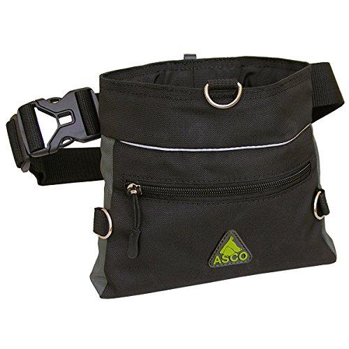 ASCO Futterbeutel, Leckerlibeutel für Hunde, Pferde mit Einhand-Schnappverschluss, 20x20cm, Premium...