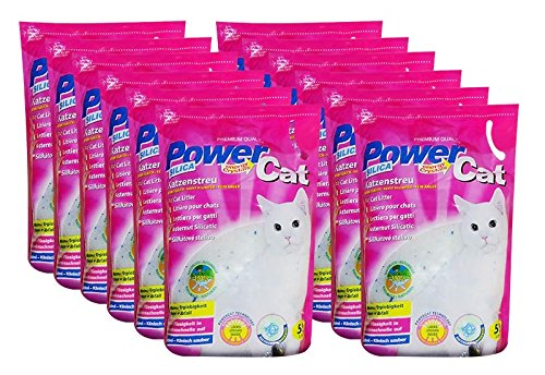 12 x 5 l = 60L Powercat Magic Silikat Katzenstreu