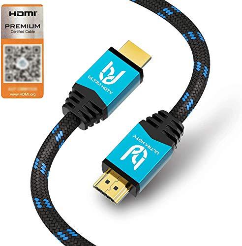 Ultra HDTV Premium 4K Highspeed HDMI 2.0b Kabel 2 Meter [HDMI Premium Zertifikat], 4K@60Hz...