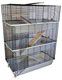 PETGARD Mäuse- und Hamsterkäfig Carlos Sky mit 3 Etagen und 7 mm Verdrahtung