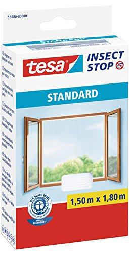 tesa Insect Stop STANDARD Fliegengitter für Fenster - Insektenschutz zuschneidbar - Mückenschutz...