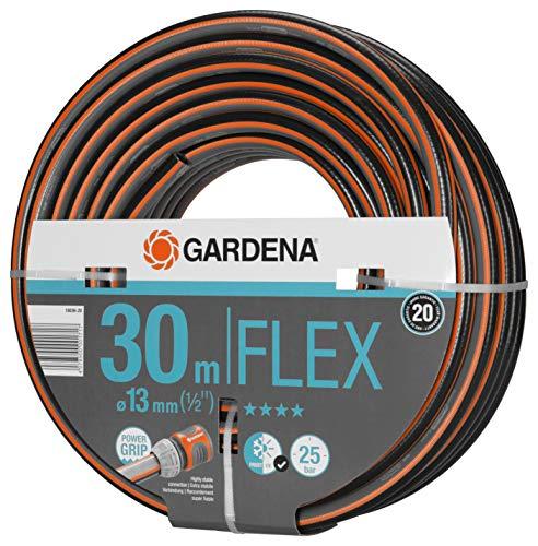 Gardena Comfort FLEX Schlauch 13 mm (1/2 Zoll), 30 m: Formstabiler, flexibler Gartenschlauch mit...