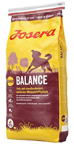 JOSERA Balance, fett- und eiweißreduziertes Hundefutter für Senioren, glutenfrei, Super Premium...