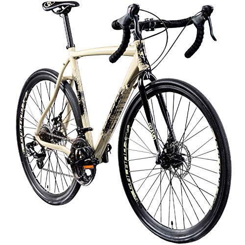 Galano Cyclocross 700c Gravel Bike Cross Fahrrad Rennrad 28' Gravel Trail 14Gang (Creme/anthrazit,...