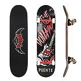 NACATIN Skateboard Komplettboard für Kinder Jungendliche und Erwachsene mit ABEC-9 Kugellager 92A...