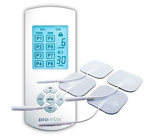 Prorelax TENS+EMS Duo Comfort Gerät- Natürliche Therapie gegen chronische Schmerzen und zum...
