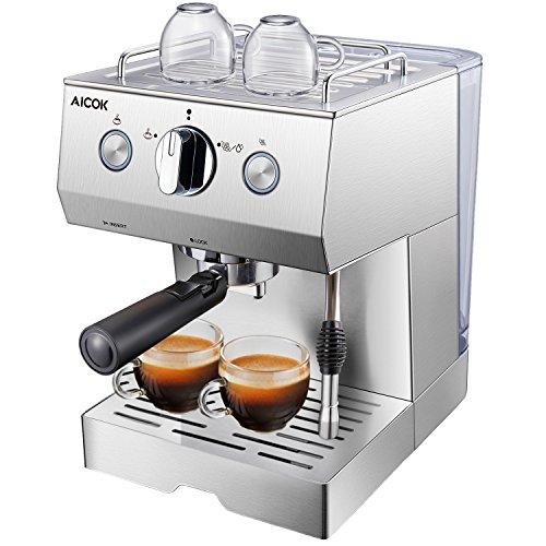 AICOK 15 Bar Espressomaschine | 1140 Watt kaffeemaschine | Cappuccino und Latte | Professionelle...