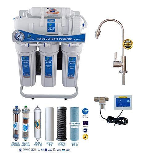 Retec Osmoseanlage 600 GPD Perfect Water No. 1 Ultimate Plus PRO Mod. 2020 Direct Flow kein Tank...