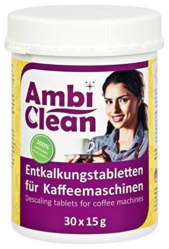 AmbiClean® Entkalker-Tabletten in der Dose für Kaffeevollautomat, Kaffee-Maschine und...