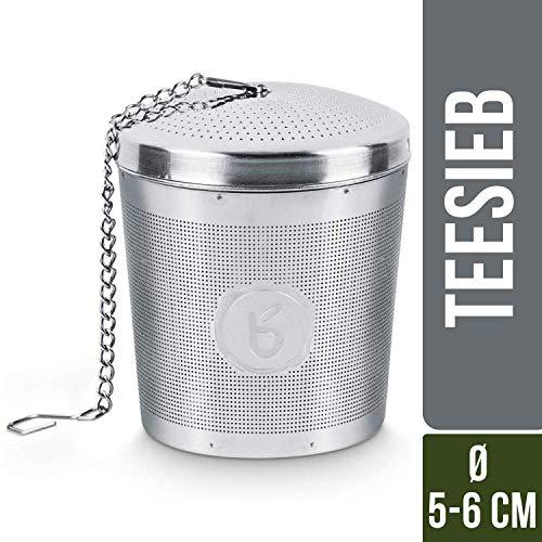 Buntfink Teainfuser Teeei aus Edelstahl I Teesieb für Teekanne - Teesieb für Tasse I Teefilter...