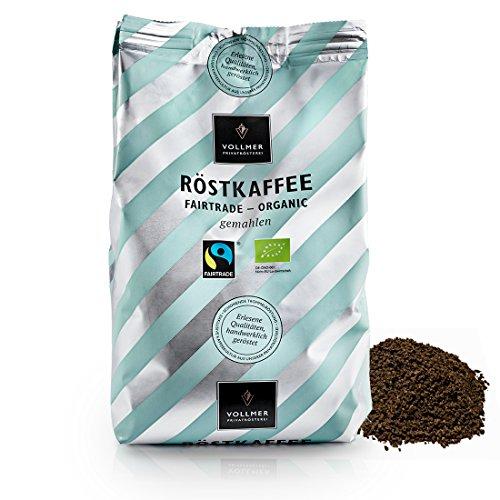 VOLLMER Röstkaffee gemahlen - Premium Kaffee aus Privatrösterei - Bio Fairtrade Filterkaffee -...