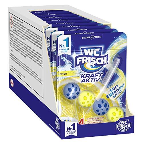 WC FRISCH Kraft Aktiv Duftspüler Lemon (10er Pack), WC Reiniger sorgt für Reinigung bei jeder...