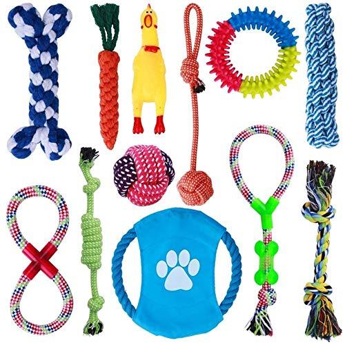 Parner Hundespielzeug, 12 Pcs Seil Ball Hunde Kauen Spielzeug Set Für Kleine große mittelgroßen...