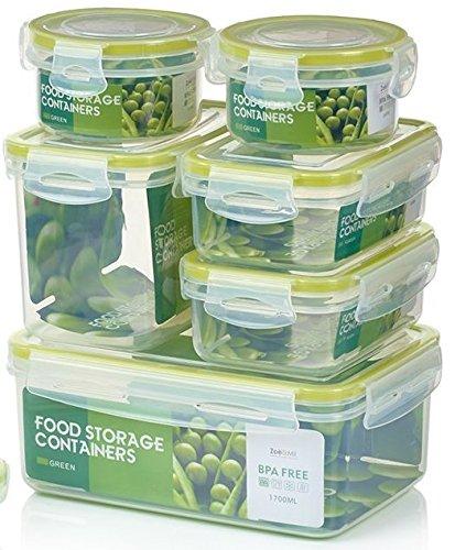 Zoë&Mii auslaufsichere Lebensmittelbehälter aus BPA-freiem Plastik - Hochwertige und luftdichte...