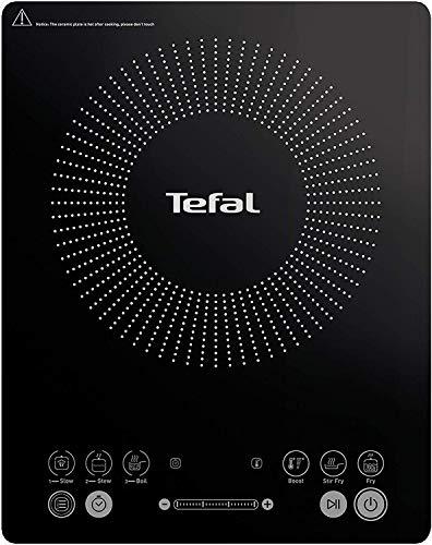 Tefal IH2108 Everyday Slim Induktionskochplatte (300 - 2100 Watt, 6 Kochprogramme, Digitalanzeige,...