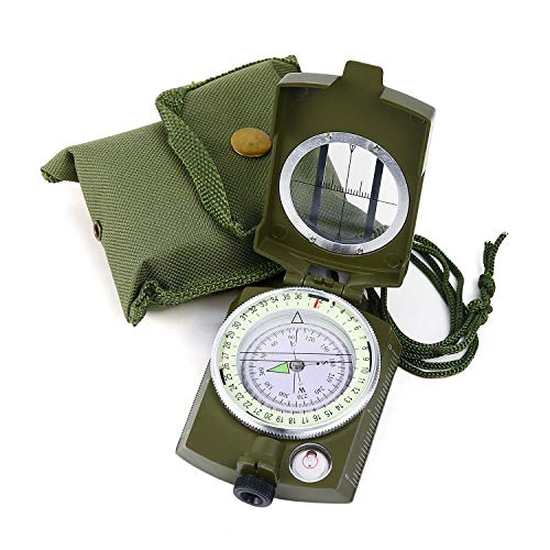 Sportneer Militär Marschkompass, Professioneller Taschenkompass Peilkompass Kompass Compass mit...