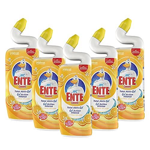 WC Ente Total Aktiv Gel Flüssiger WC Reiniger, mit Entenhals-Technologie, antibakteriell, Citrus...