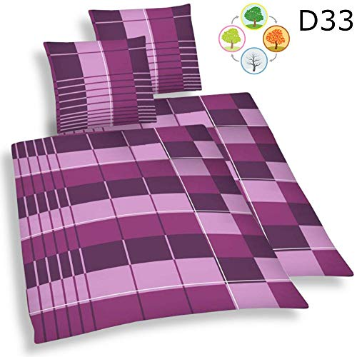DreamHome 4 teilige Bettwäsche Mikrofaser AllSeason Bettbezug für Bettdecke, Steppdecken 135x200...