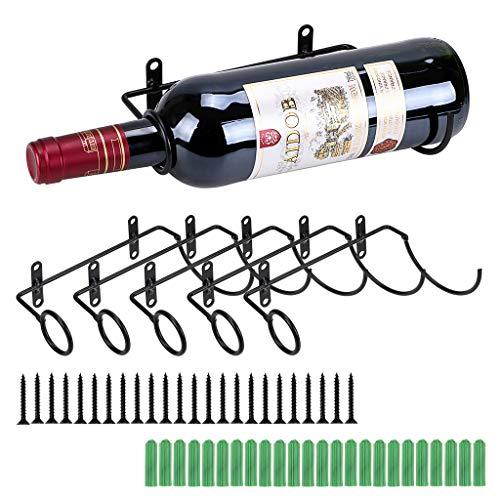 BSTKEY Weinflaschenhalter zur Wandmontage, Eisen, für Rotwein, Getränke, Likörflaschen,...