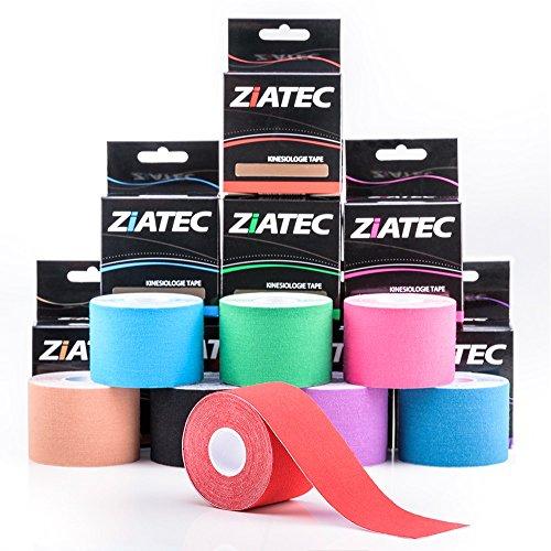 ZiATEC Pro Kinesiologie Tape - Physio-Tape, Farbe:1 x blau