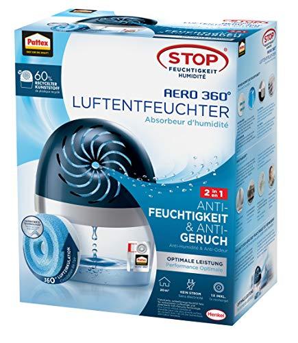 Pattex AERO 360º Luftentfeuchter, ultra-absorbierender Raumentfeuchter, hilft Kondenswasser,...