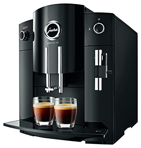 Jura Impressa C60–Kaffeevollautomat (freistehend, Schwarz, Kaffeebohnen, Kaffee, 15bar,...