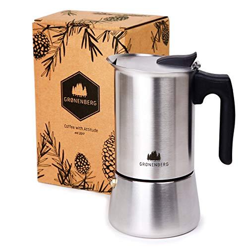 Groenenberg Espressokocher Induktion geeignet   Edelstahl   4-6 Tassen Espressokanne   200-300 ml...