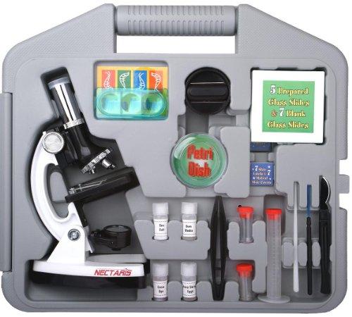 NECTARIS 900x Junior Mikroskop Schüler und Kinder Lern Set 28-teilig