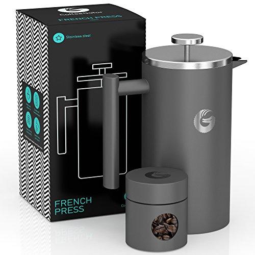 Coffee Gator French-Press-Kaffeebereiter – Heißer-für-Länger-Thermobrüher – Plus Reiseglas...